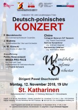 Plakat Deutsch-Polnisches Konzert 12.11.2018