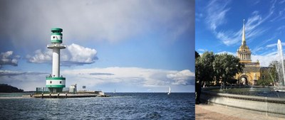 lighthouse Kiel, admiralty saint petersburg
